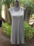 French Terry Double Strap Dress - Nickel and Birch