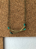 Skinny Tube Brass Necklace - Nickel and Birch
