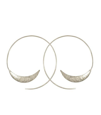 Solstice Hoop Earrings - Nickel and Birch