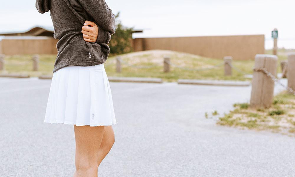 girl posing in Drop Shot Skort