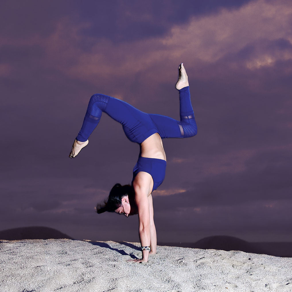 Tonic Active Tribe Member Sandra Gin Blue Legging Bra Yoga