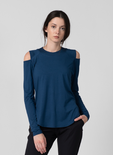 Olivine Open Shoulder Shirt