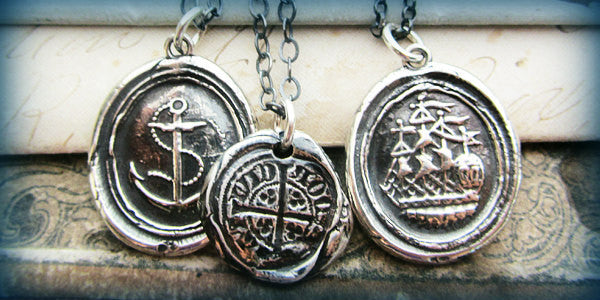 Nautical Wax Seal Necklaces