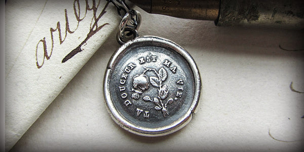 You Sustain Me – Flower & Butterfly Wax Seal Pendant