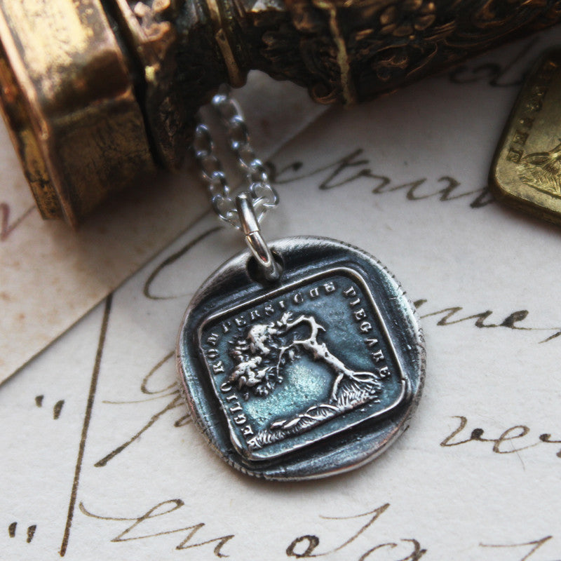 Better To Bend Than To Break - the Oak and the Reed Aesop Fable Charm - Shannon Westmeyer Jewelry - 1