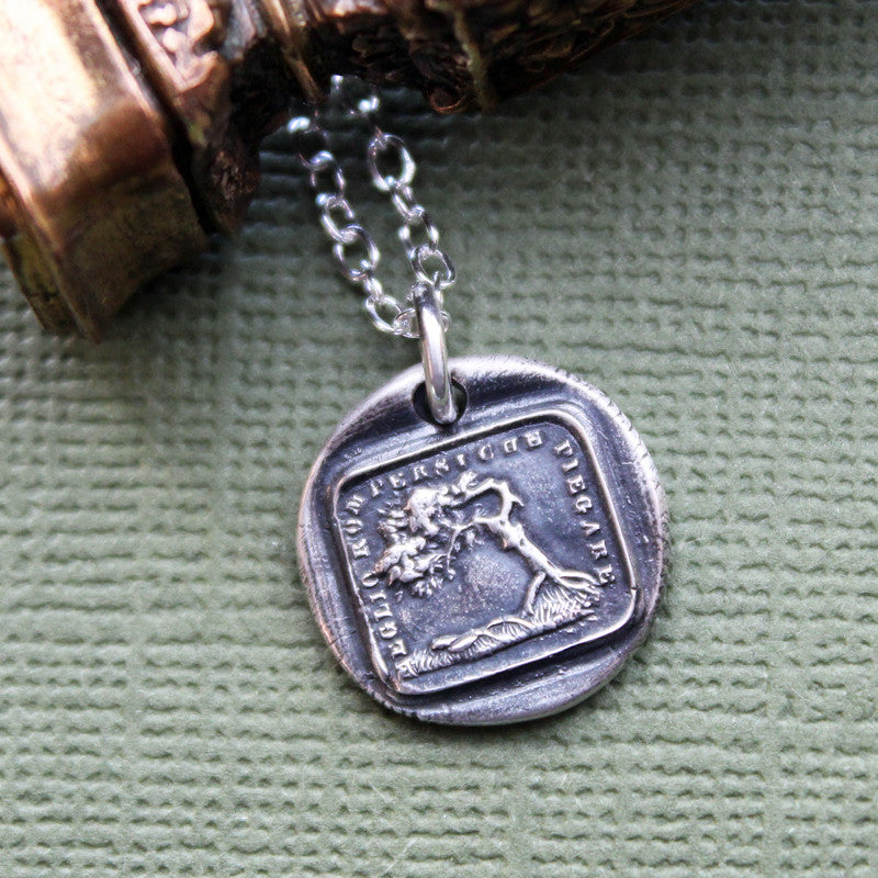Better To Bend Than To Break - the Oak and the Reed Aesop Fable Charm - Shannon Westmeyer Jewelry - 3