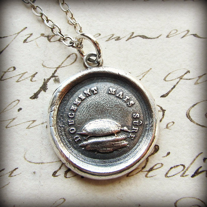 Turtle Wax Seal Necklace - Patience, Longevity & Endurance - Shannon Westmeyer Jewelry - 3