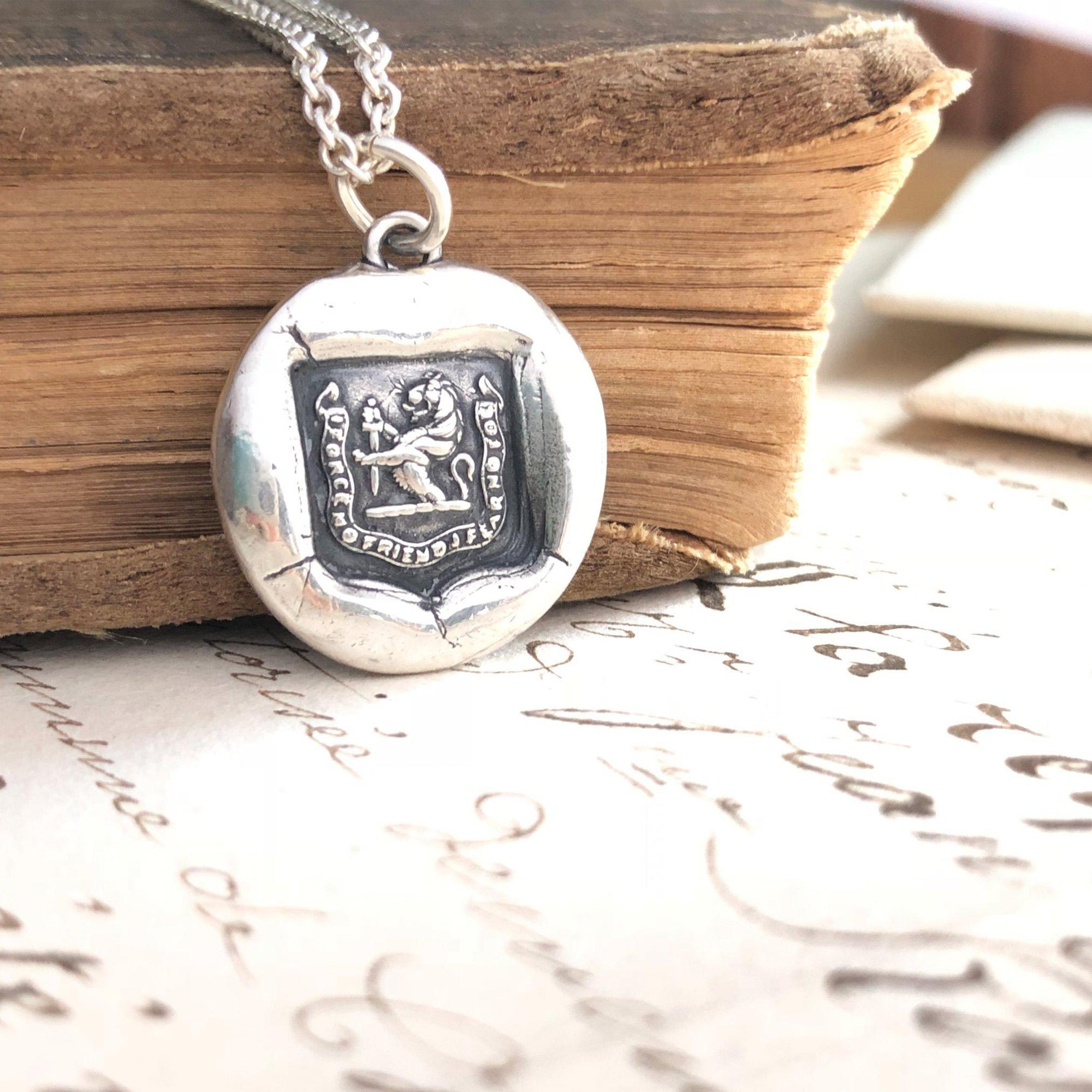 Faithful Friend Wax Seal Necklace - Courageous Foe
