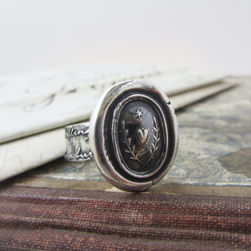 Love Guides Me Wax Seal Ring-Shannon Westmeyer Jewelry