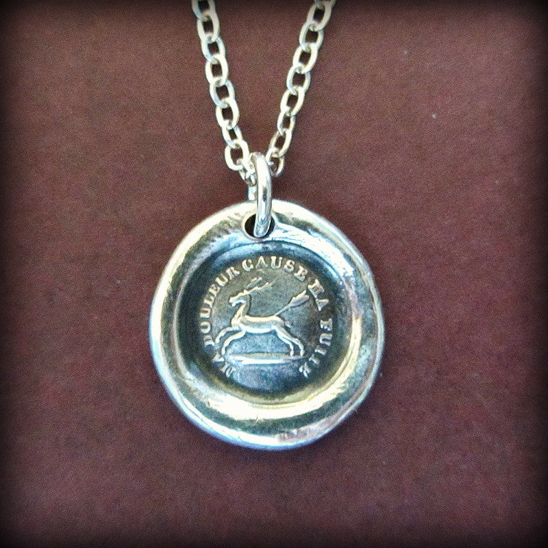 Endure - I Will Go On - French Proverb Wax Seal Necklace - Shannon Westmeyer Jewelry - 3
