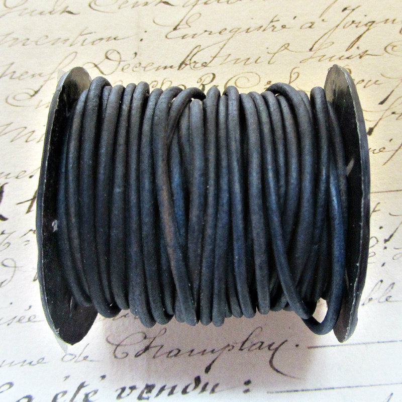 Leather Cord Necklace with Sterling Swivel Clasp