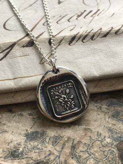 I'm Waiting - Love & Patience Wax Seal Charm Necklace-Shannon Westmeyer Jewelry