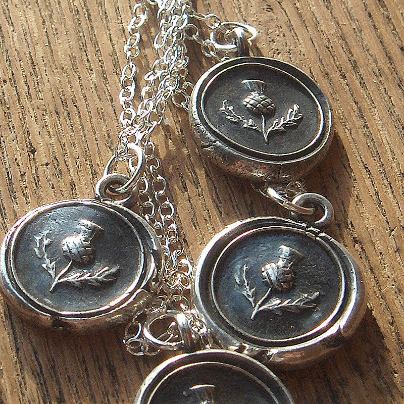 Scottish Thistle Charm Necklace - Strength, Unity & Friendship - Shannon Westmeyer Jewelry - 3