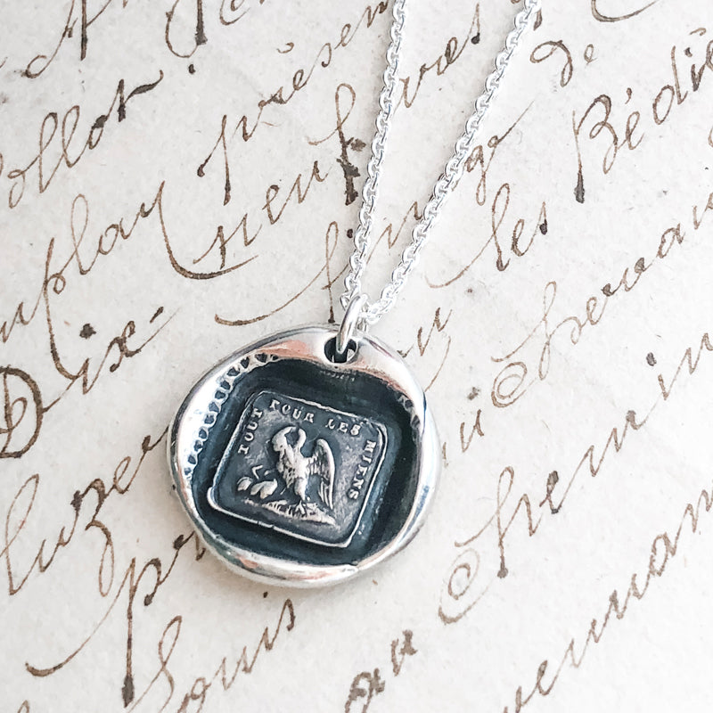 A Mother's Love Wax Seal Necklace