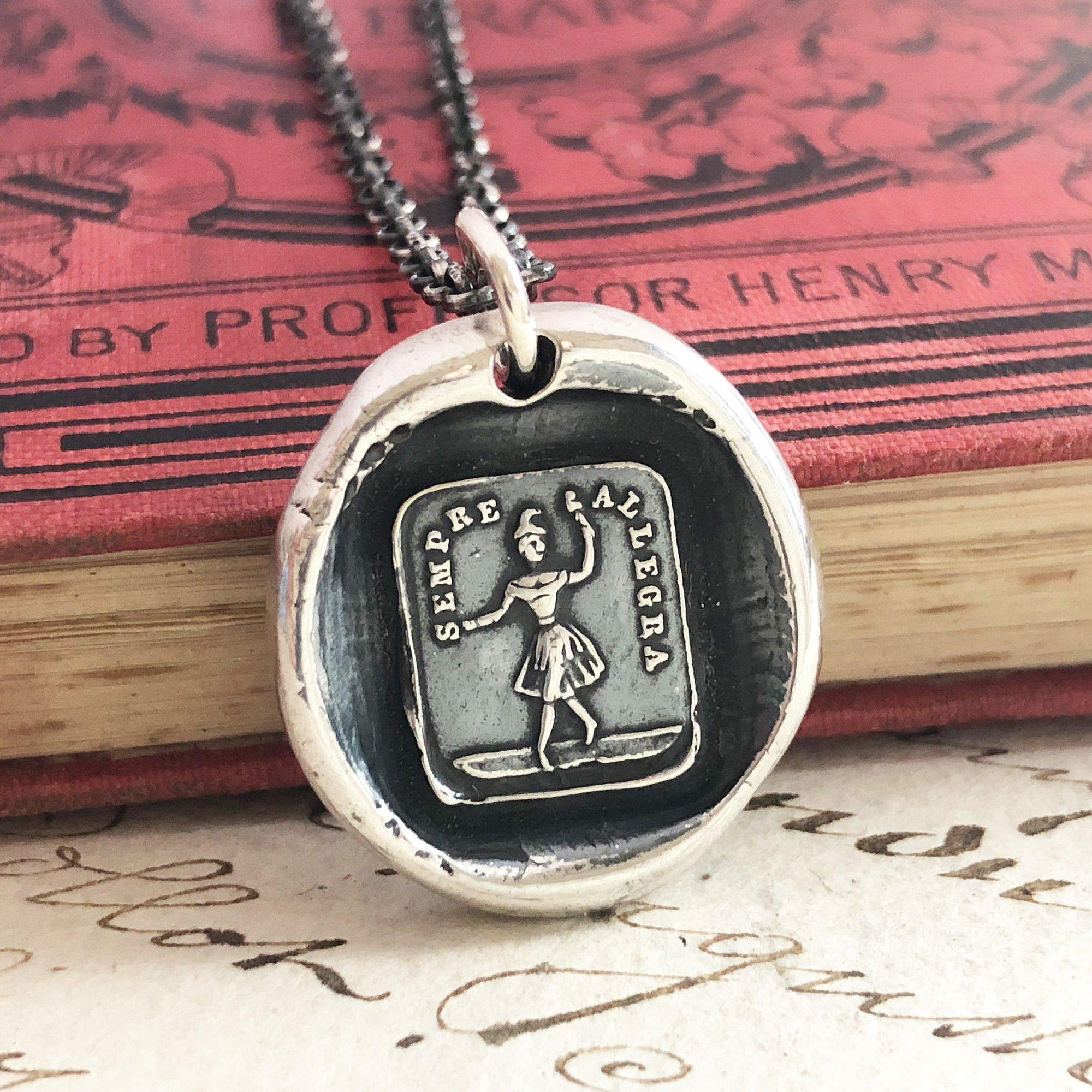 Always Glad Wax Seal Pendant - A reminder to be Happy no matter what life brings you
