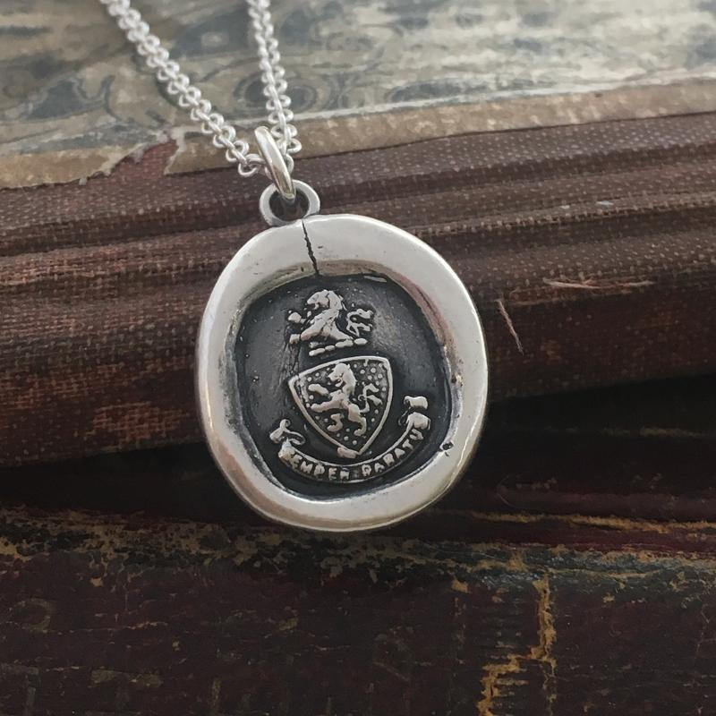 Semper Paratus Wax Seal Necklace - Shannon Westmeyer Jewelry