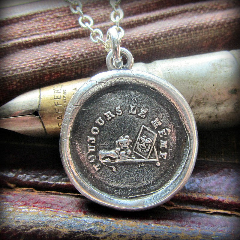 Always the Same  Wax Seal Pendant - Steadfast & Faithful - Never Changing