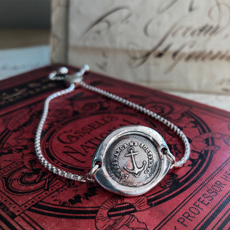 Anchor - Adjustable Wax Seal Bracelet