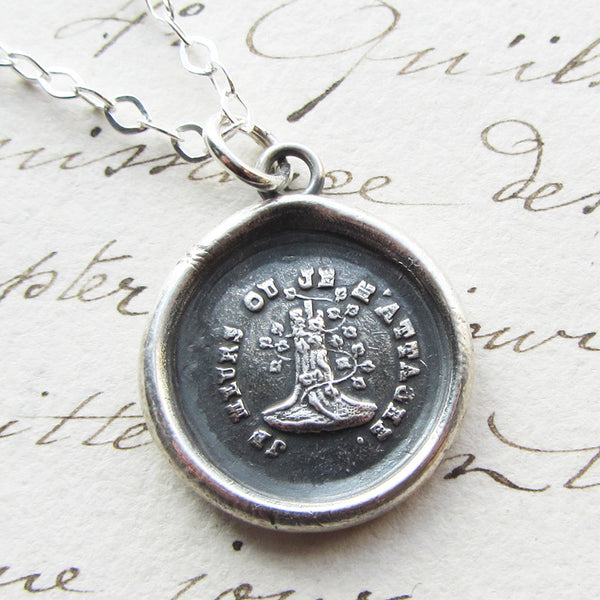 Woodbine and the Oak - Till Death Do Us Part Wax Seal Necklace - Attached Until Death - Shannon Westmeyer Jewelry - 1