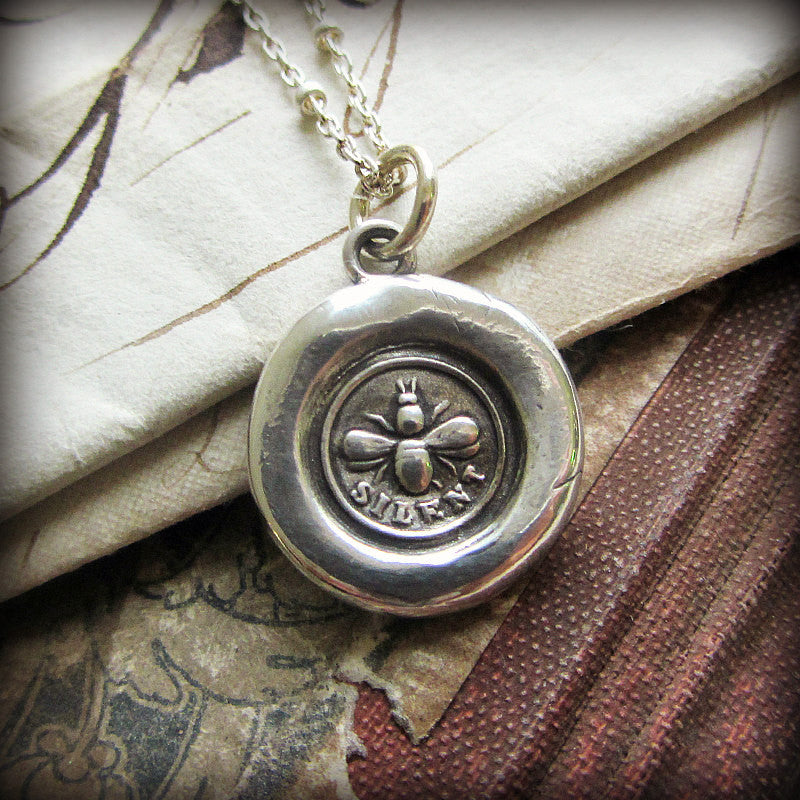Bee Silent Wax Seal Charm