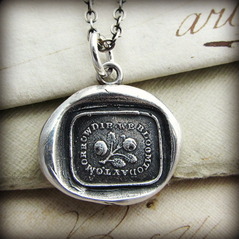 Bloom Today wax seal necklace.