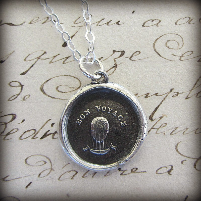 Bon Voyage Balloon Wax Seal - Good Luck! - Shannon Westmeyer Jewelry - 2