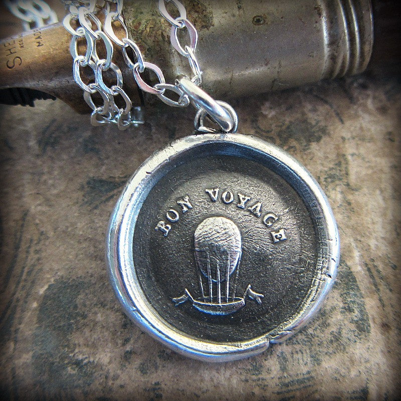 Bon Voyage Balloon Wax Seal - Good Luck! - Shannon Westmeyer Jewelry - 1