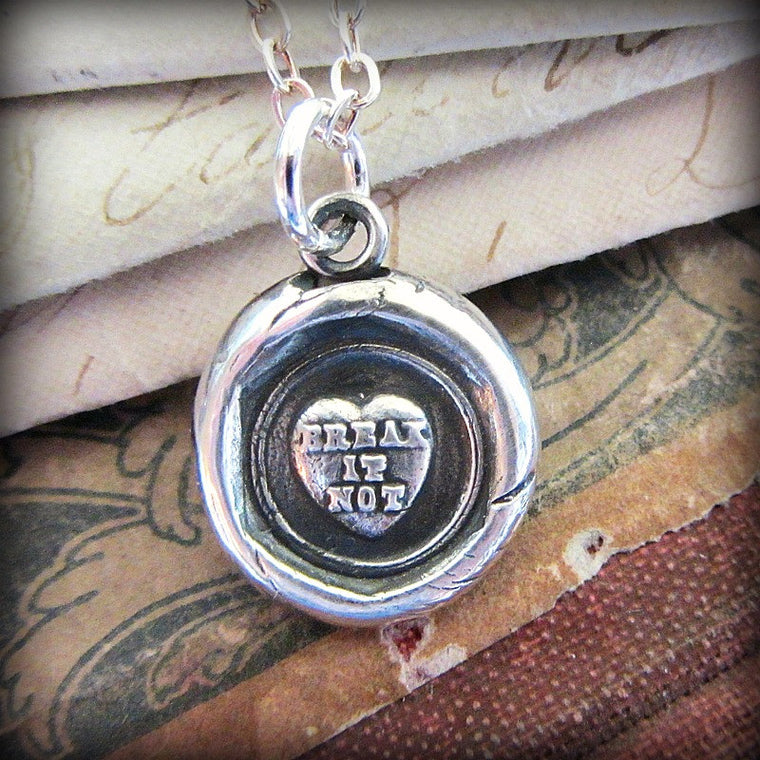 Victorian Conversation Heart - Break it Not - Shannon Westmeyer Jewelry - 1