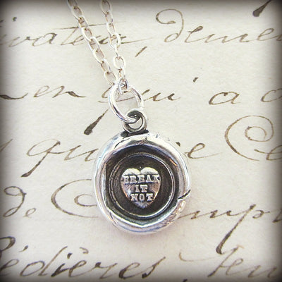 Victorian Conversation Heart - Break it Not - Shannon Westmeyer Jewelry - 2