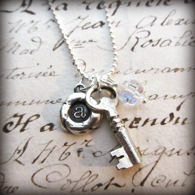 The Future is Bright - Personalized Initial Necklace - Vintage Reclaimed Swarovski Crystal - Shannon Westmeyer Jewelry - 4