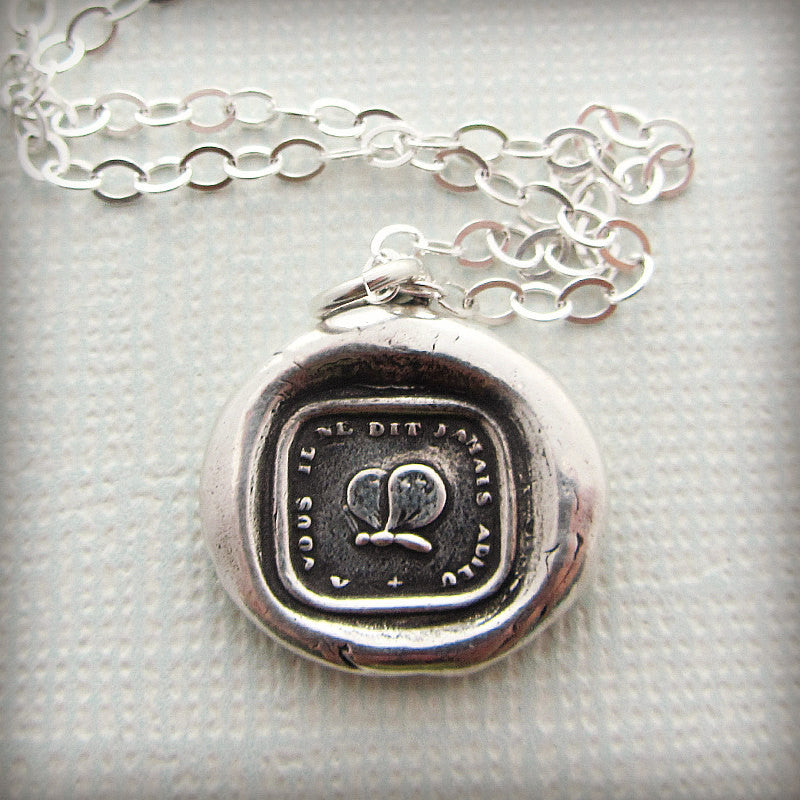 Never Say Goodbye Was Seal Necklace - Good Bye Gift