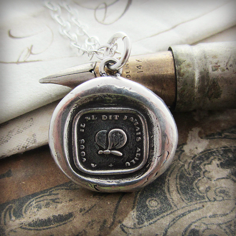 Goodbye Gift - Never Say Goodbye Wax Seal Necklace