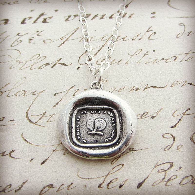 Inspirational Butterfly Wax Seal Necklace