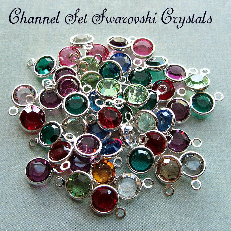 Channel Set Swarovski Crystal Birthstones - Shannon Westmeyer Jewelry - 1