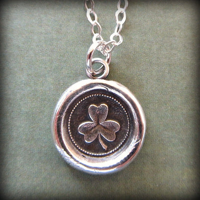 Shamrock Wax Seal Necklace - Faith, Love & Hope - Shannon Westmeyer Jewelry - 3