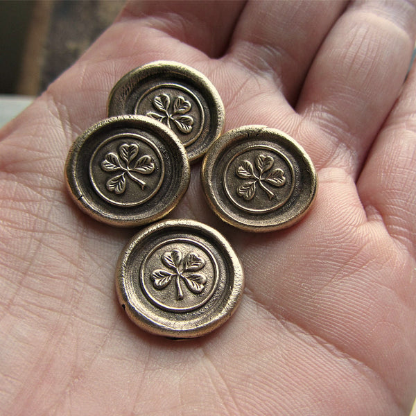 Four Leaf Clover Pocket Token Good Luck Token - Shannon Westmeyer Jewelry - 1