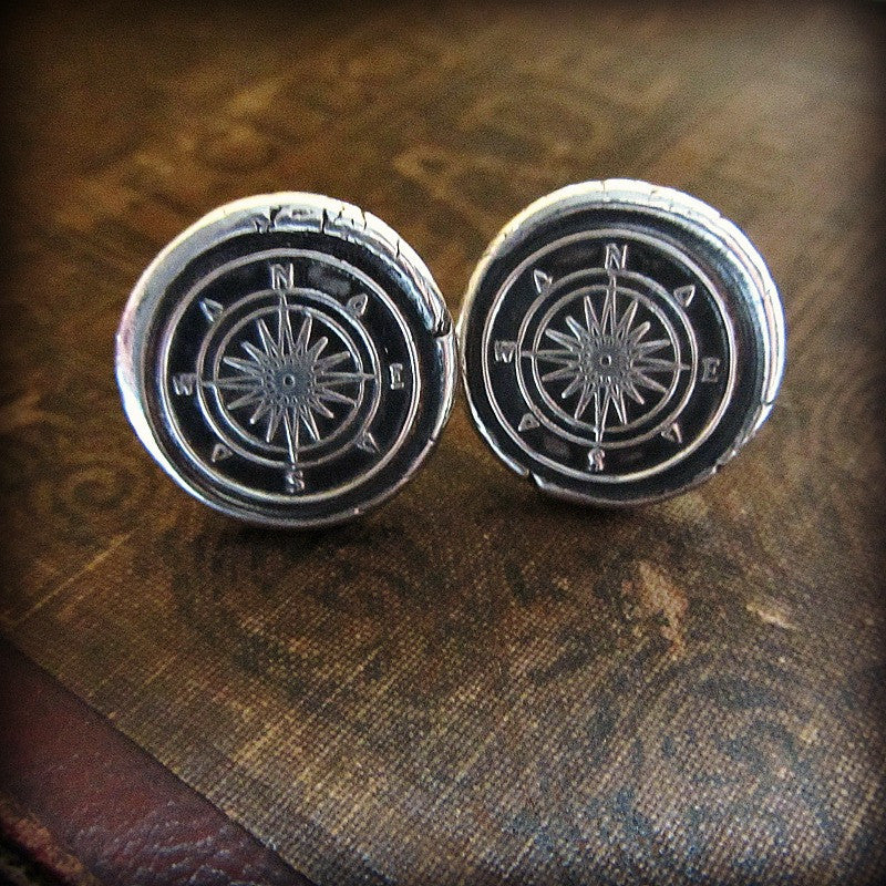Compass Cuff Links - Shannon Westmeyer Jewelry - 4