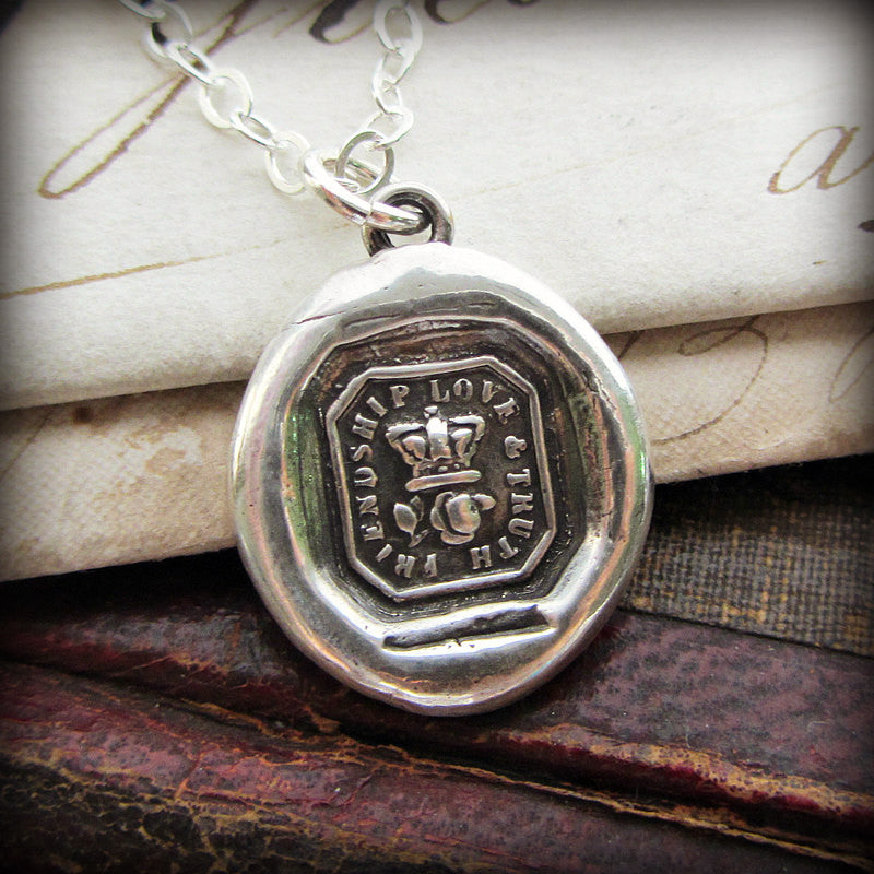 Crown & Rose Wax Seal - Friendship, Love & Truth - Shannon Westmeyer Jewelry - 1
