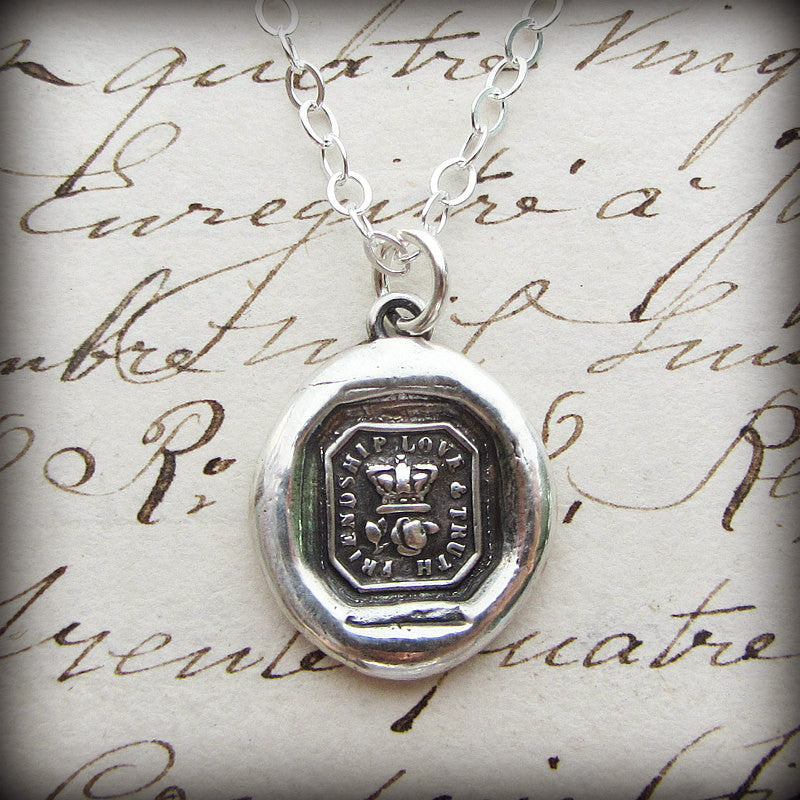 Crown & Rose Wax Seal - Friendship, Love & Truth - Shannon Westmeyer Jewelry - 2