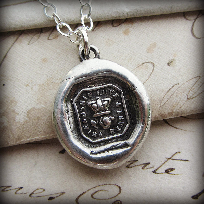 Crown & Rose Wax Seal - Friendship, Love & Truth - Shannon Westmeyer Jewelry - 3