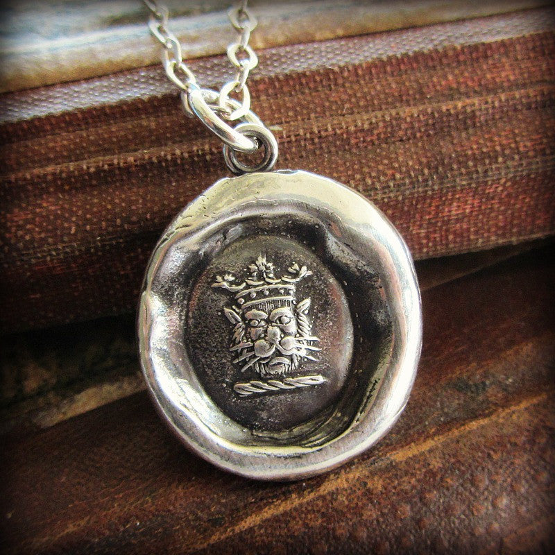 Crowned Lion Heraldic Crest - Shannon Westmeyer Jewelry - 2