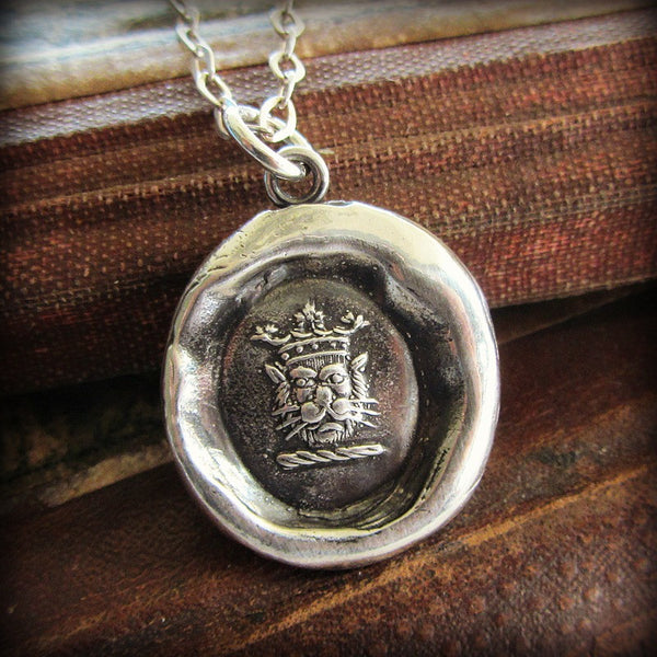 Crowned Lion Heraldic Crest - Shannon Westmeyer Jewelry - 1