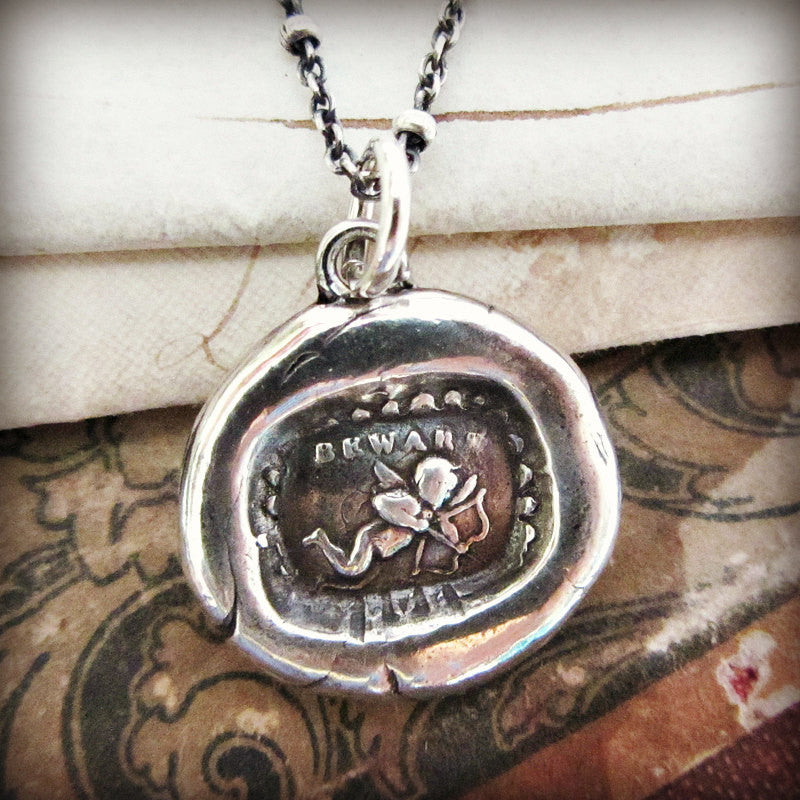 Cupid Wax Seal Charm - Love Strikes - Shannon Westmeyer Jewelry - 1