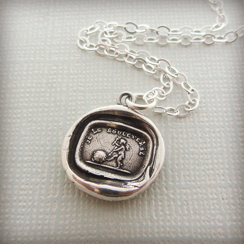 Cupid Wax Seal Necklace Charm