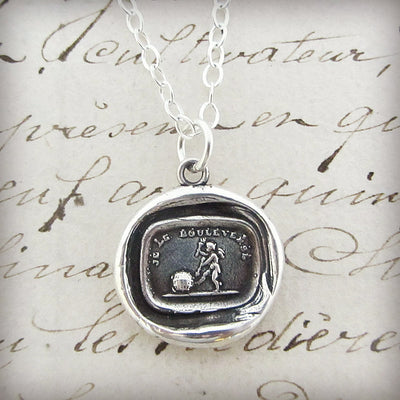 Love Rules the World - Cupid Wax Seal Necklace