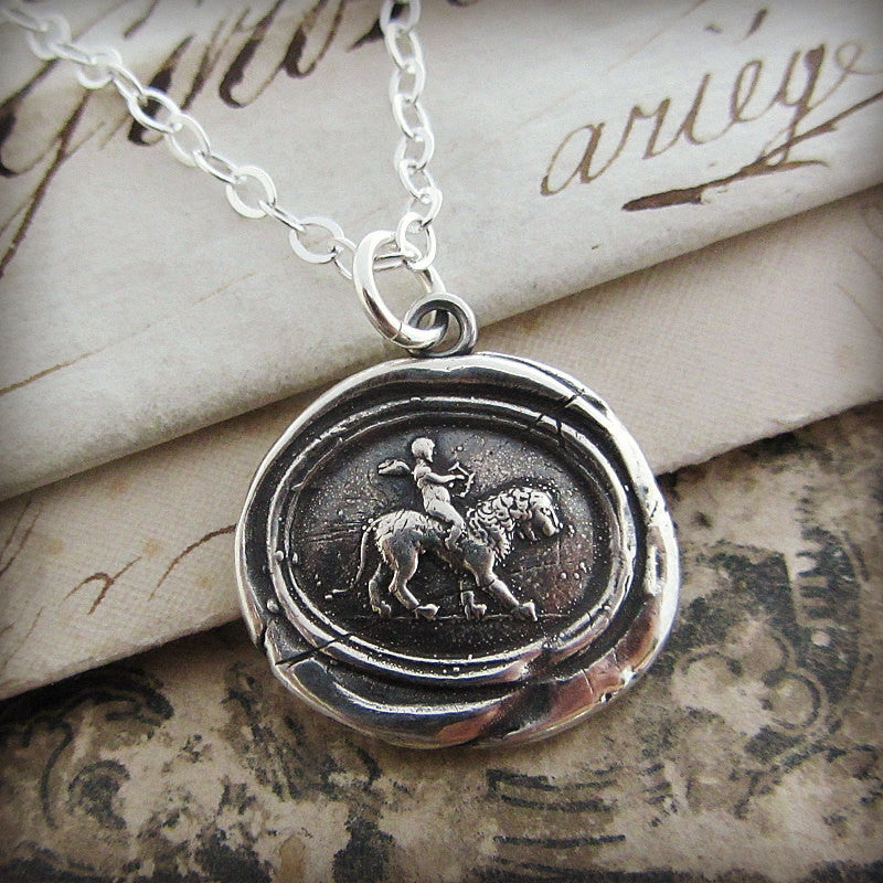 Love Conquers All Wax Seal Necklace