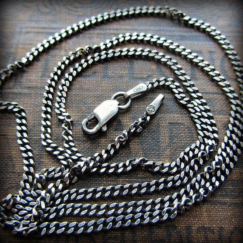 silver lyst long metallic chanel curb in necklace chain jewelry