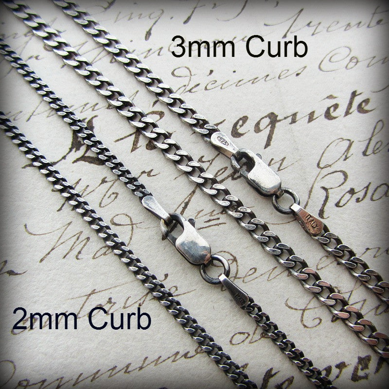 Curb Chain 3mm - Sterling Silver - Shannon Westmeyer Jewelry - 2