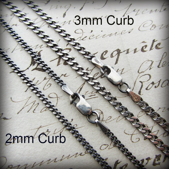 Curb Chain 2mm - Sterling Silver - Shannon Westmeyer Jewelry - 1