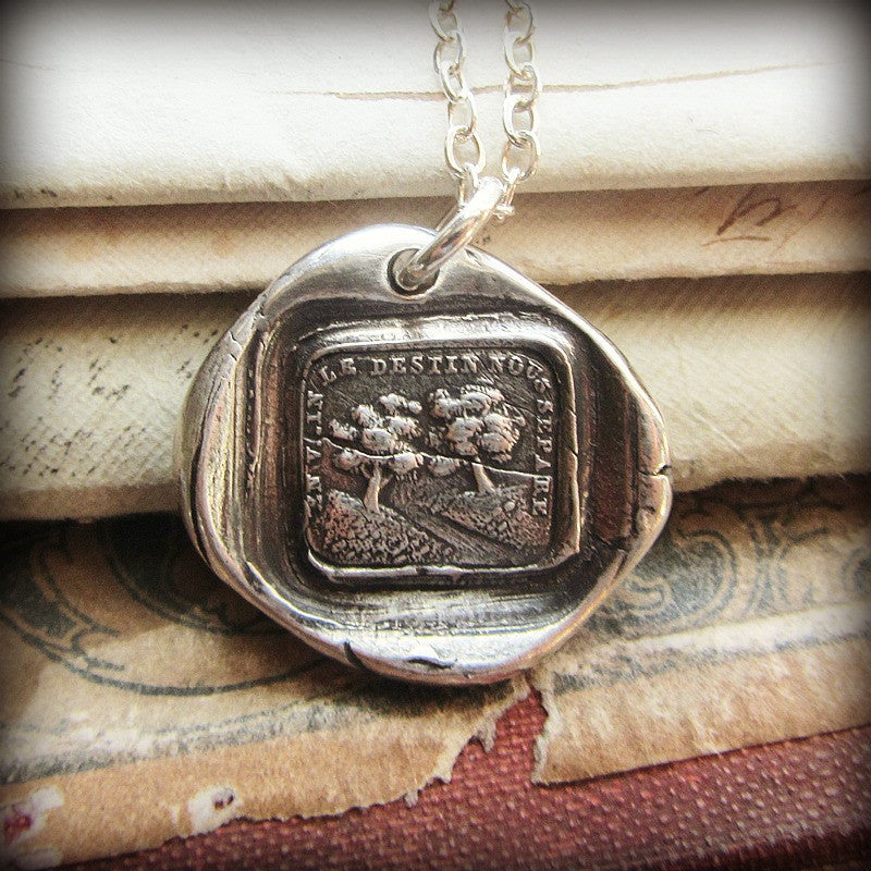 Destiny Unites Us Wax Seal Pendant Necklace